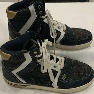 Original Penguin Plaid High top Sneakers 10